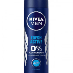 Xịt khử mùi nivea men fresh active, 150 ml